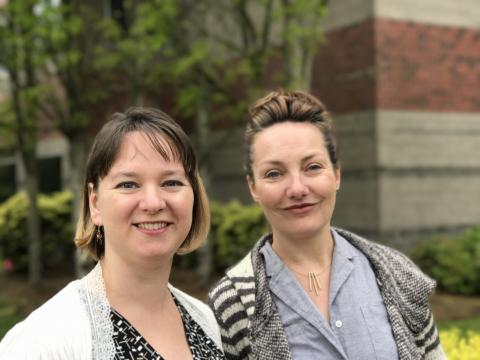 Research Assistant Amanda Perez and Project Director Catrin Rode